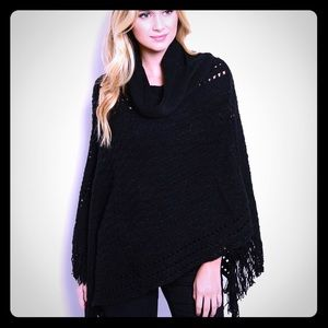Jackets & Blazers - NEW Chic Black Shawl